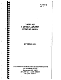 User Manual TTC T-Berd 107