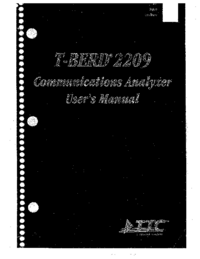 User Manual TTC T-Berd 2209