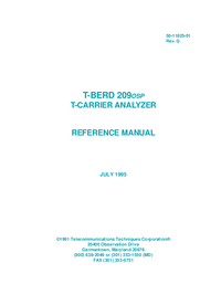 User Manual TTC T-Berd 209 OSP