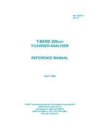 Manuel de l'utilisateur TTC T-Berd 209 OSP