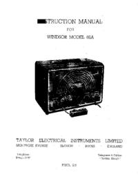 Service et Manuel de l'utilisateur Taylor Windsor Model 66A