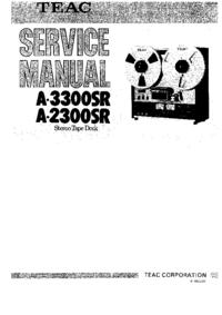 Instrukcja serwisowa Teac A-3300SR