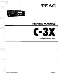 manuel de réparation Teac C-3X
