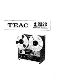 manuel de réparation Teac A 3300