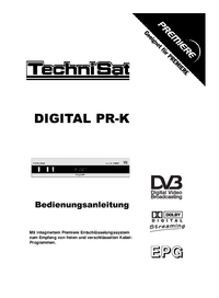 Manual del usuario TechniSat DIGITAL PR-K