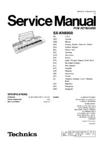 Service Manual Technics SX-KN6000