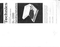 Bedienungsanleitung Technics SL-3300