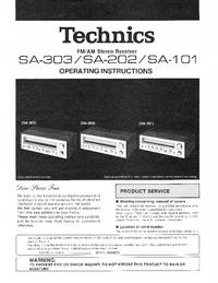 User Manual Technics SA-101