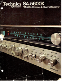 Dane techniczne Technics SA-5600X