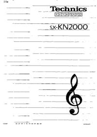 Instrukcja obsługi Technics SX-KN2000