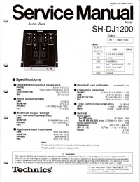 Service Manual Technics SH-DJ1200