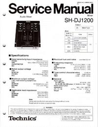 Instrukcja serwisowa Technics SH-DJ1200