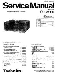 Service Manual Technics SU-V900