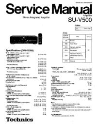 Service Manual Technics SU-V500
