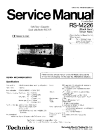 manuel de réparation Technics RS-M226