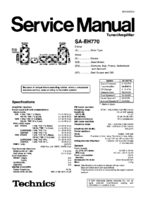 Instrukcja serwisowa Technics SA-EH770
