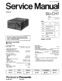 Manual de servicio Technics SU-CH7