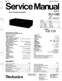 Serviceanleitung Technics SU-V98