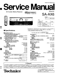 Service Manual Technics SA-AX6