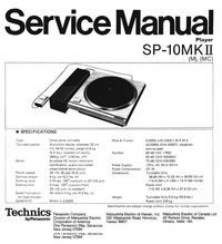 manuel de réparation Technics SP-10MKII