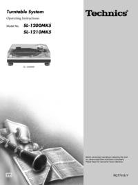 Bedienungsanleitung Technics SL-1200MK5