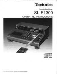 Manual del usuario Technics SL-P1300