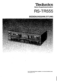 User Manual Technics RS-TR555