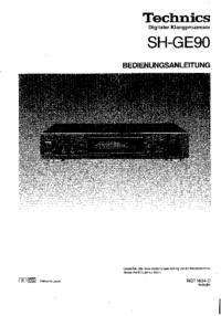 Manual do Usuário Technics SH-GE90
