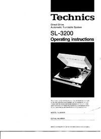 Manual do Usuário Technics SL-3200