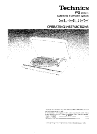 Manual del usuario Technics SL-BD22