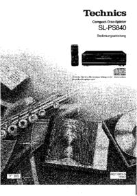 Manual do Usuário Technics SL-PS840