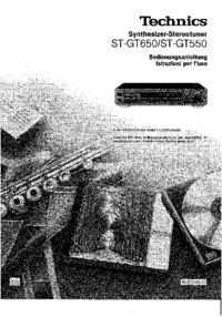 Manuale d'uso Technics ST-GT550