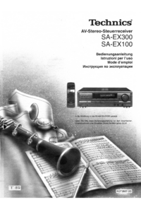 User Manual Technics SA-EX300