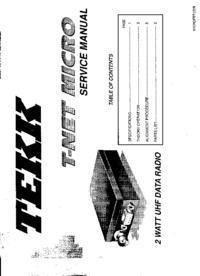 Instrukcja serwisowa Tekk T-Net Micro