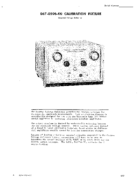 Service and User Manual Tektronix 067-0596-00 CALIBRATION FIXTURE