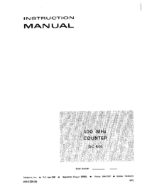 Servicio y Manual del usuario Tektronix DC 501