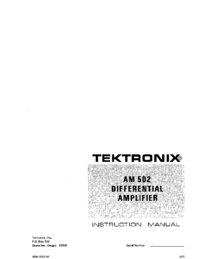 Tektronix-10002-Manual-Page-1-Picture