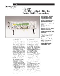 Datasheet Tektronix ST2400A
