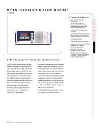 Datenblatt Tektronix SV970