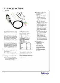 Datenblatt Tektronix TAP2500