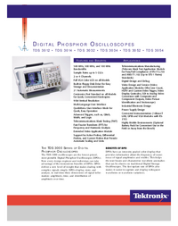 Fiche technique Tektronix TDS 3034