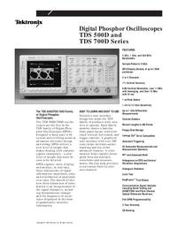 Технический паспорт Tektronix TDS 700D Series