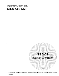 Service and User Manual Tektronix 1121
