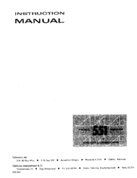 Servicio y Manual del usuario Tektronix 551