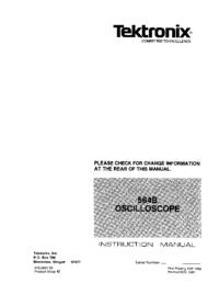 Serviço e Manual do Usuário Tektronix 564B