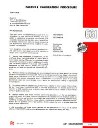 Руководство по техническому обслуживанию Tektronix 661