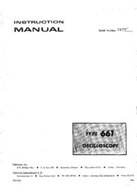 Serviço e Manual do Usuário Tektronix 661