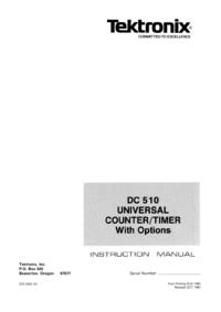 Serviço e Manual do Usuário Tektronix DC 510