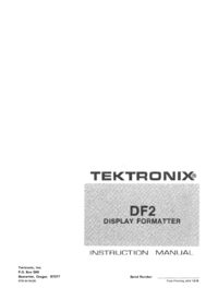 Service and User Manual Tektronix DF2