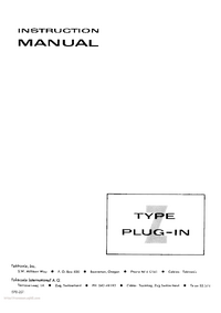 Servicio y Manual del usuario Tektronix Type Z